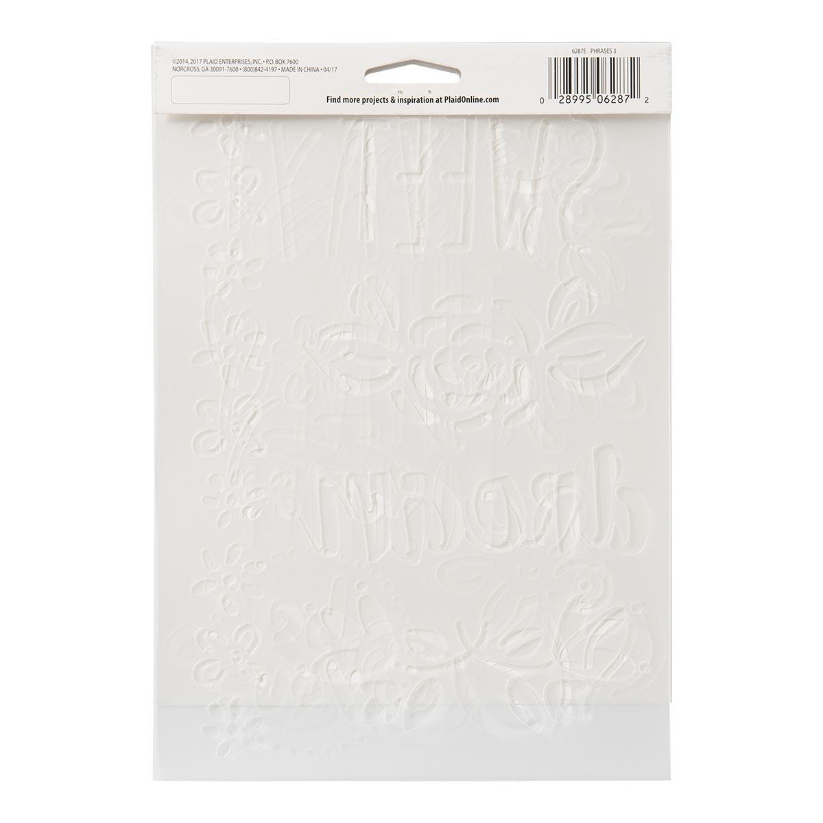 FolkArt ® Stencil Value Packs - Phrases 3, 7
