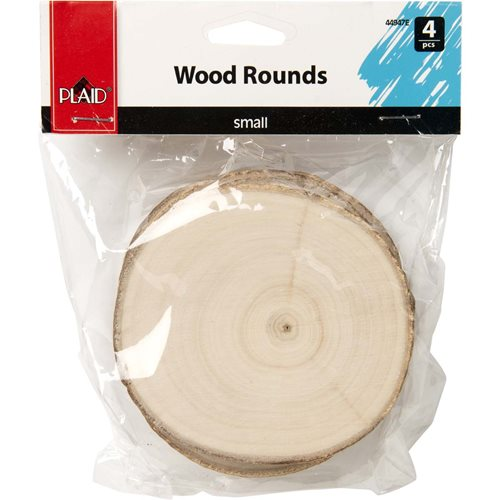 Plaid ® Wood Surfaces - Small Wood Round with Bark, 4 pc. - 44947E