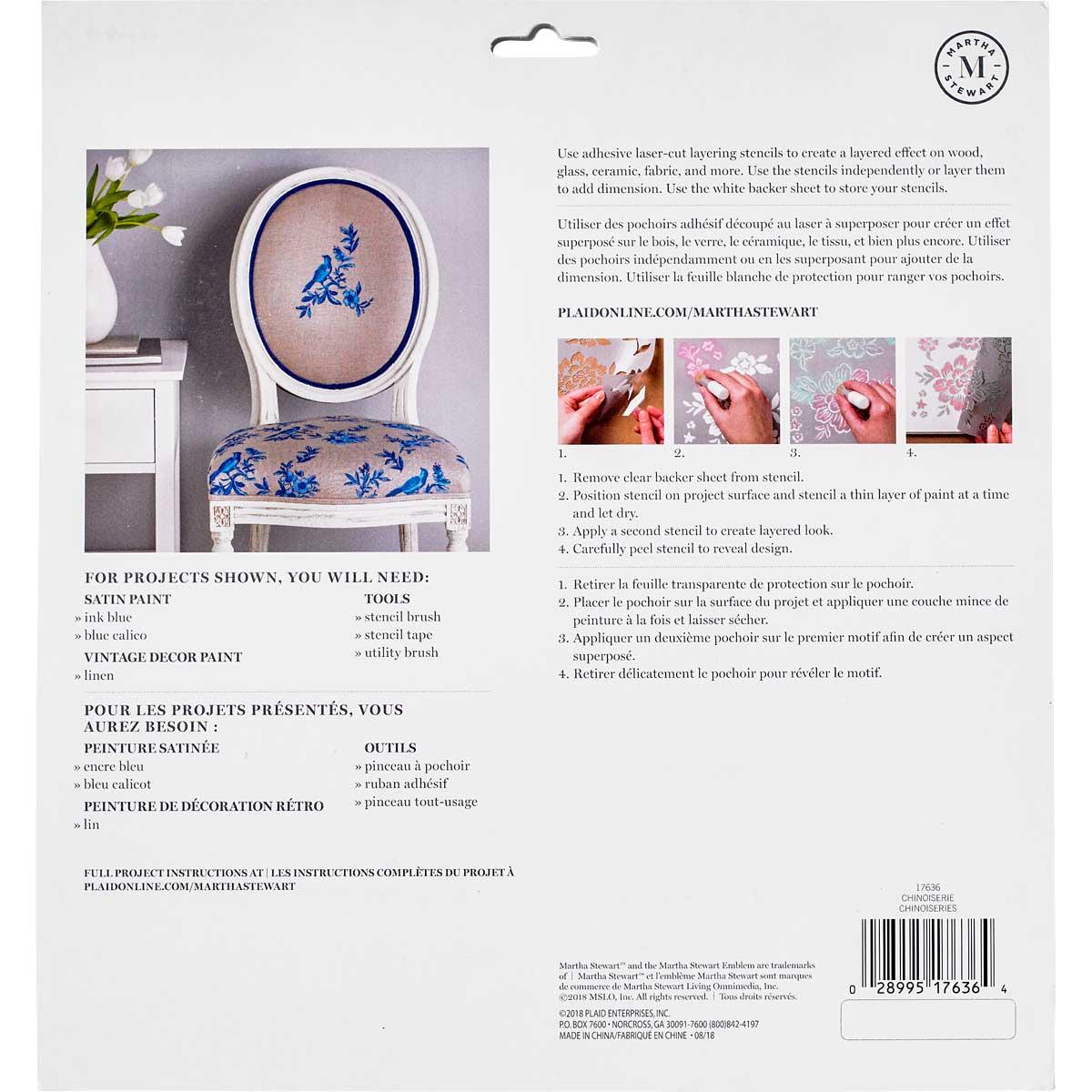 Martha Stewart® Adhesive Stencil - Chinoiserie
