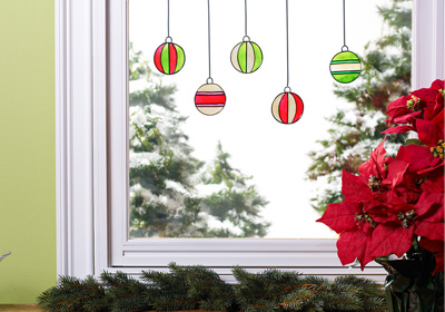 christmas ornament window clings - Window Clings