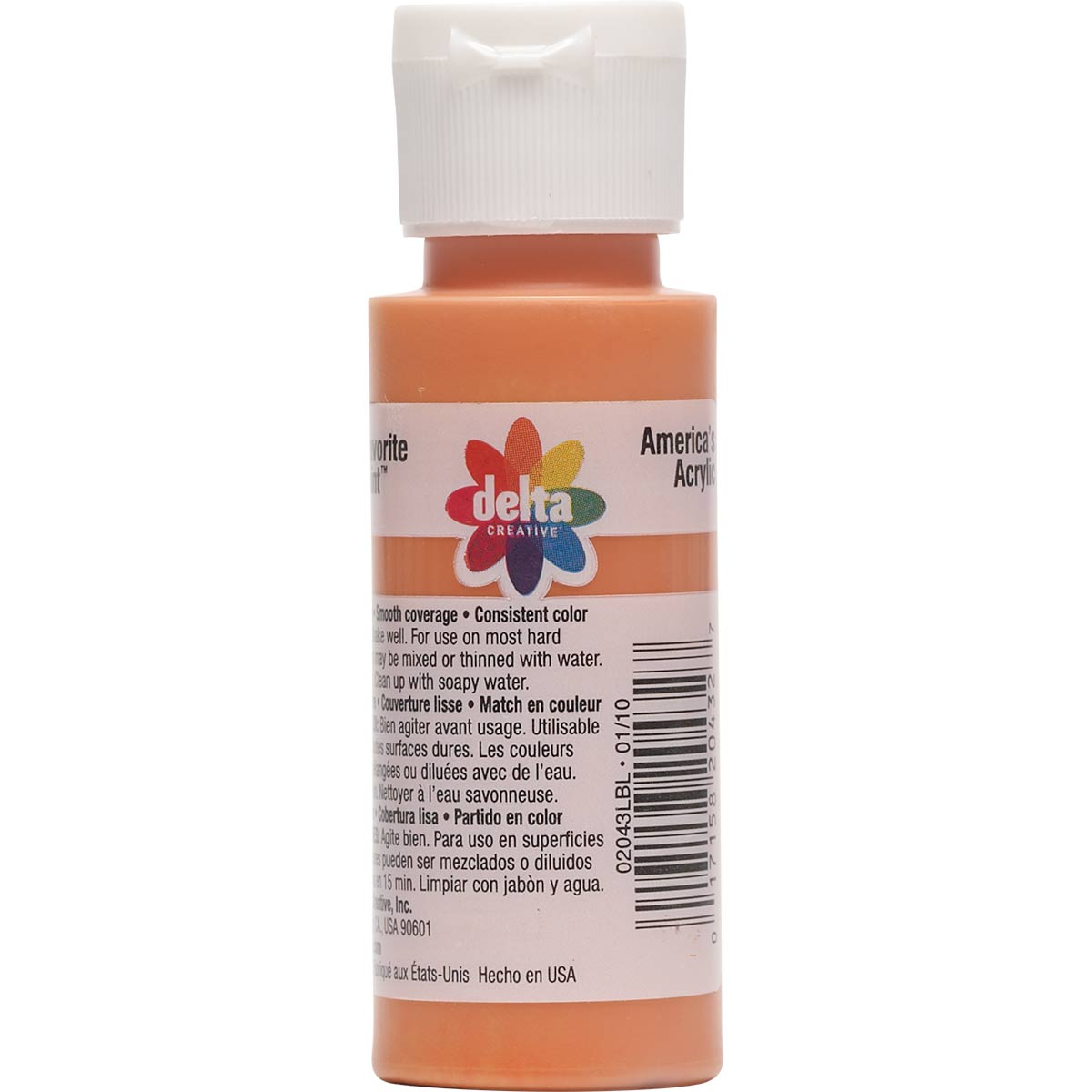 Delta Ceramcoat Acrylic Paint - Tangerine, 2 oz. - 020430202W