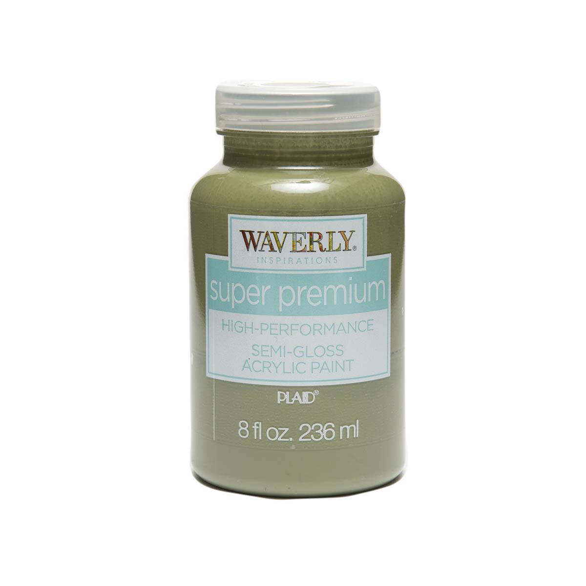 Waverly ® Inspirations Super Premium Semi-Gloss Acrylic Paint - Moss, 8 oz. - 60913E