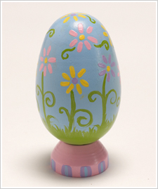 Blue Egg with Dainty Flowers