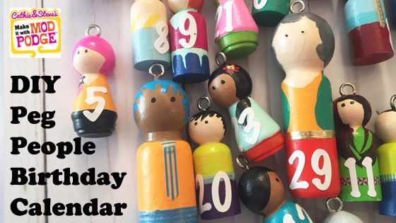 Birthday Calendar with Peg People with Cathie & Steve