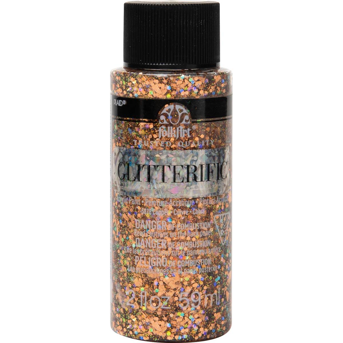 FolkArt ® Glitterific™ Acrylic Paint - Copper, 2 oz.