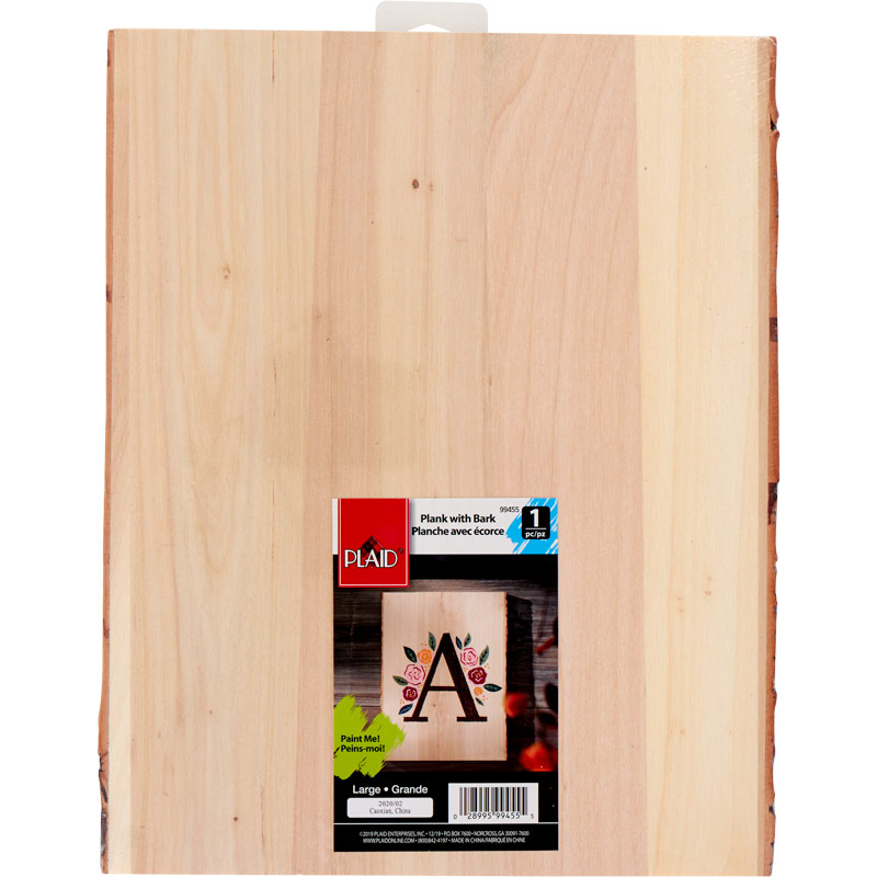 Plaid ® Wood Surfaces - Wood Plank with Bark, 10-1/2