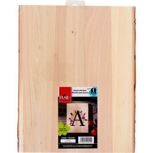 "Plaid ® Wood Surfaces - Wood Plank with Bark, 10-1/2"" x 13"" - 99455"