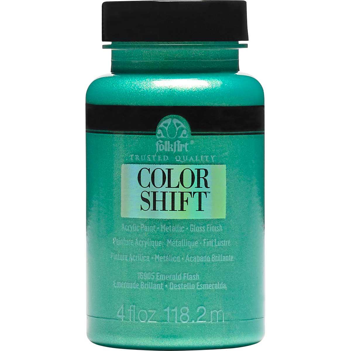 FolkArt ® Color Shift™ Acrylic Paint - Emerald Flash, 4 oz.