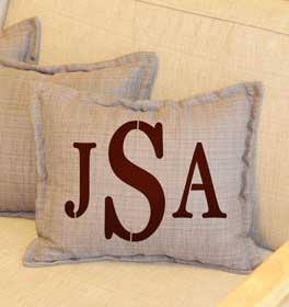 Serif Monogram Throw Pillow