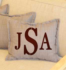Serif Monogram Throw Pillow