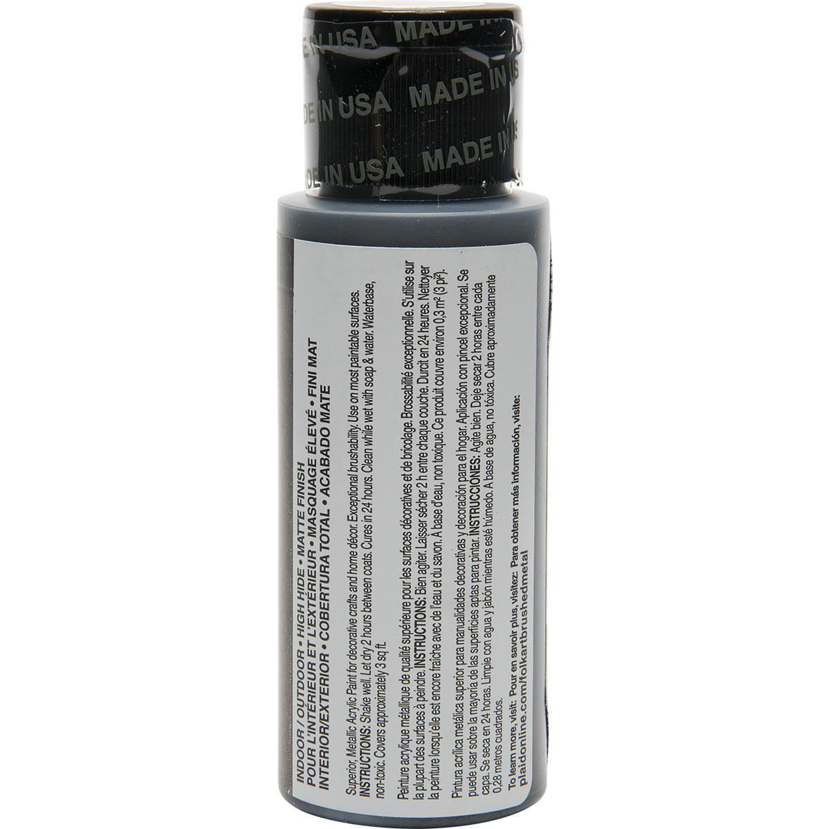 FolkArt ® Brushed Metal™ Acrylic Paint - Black, 2 oz. - 5166