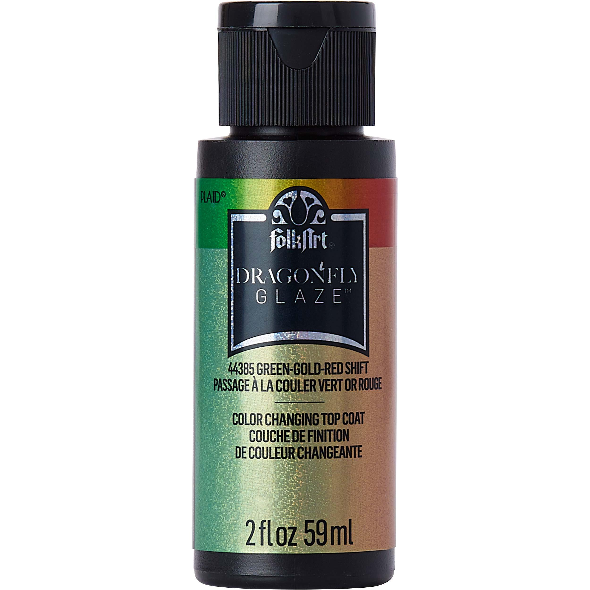 FolkArt ® Dragonfly Glaze™ - Green-Gold-Red, 2 oz.