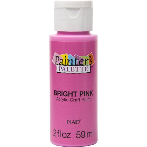 Plaid ® Painter's Palette™ Acrylic Paint - Bright Pink, 2 oz.