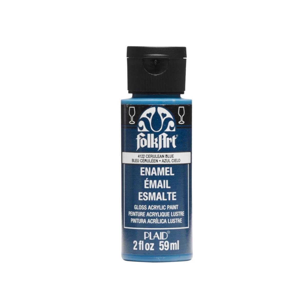 FolkArt ® Enamels™ - Cerulean Blue, 2 oz. - 4122