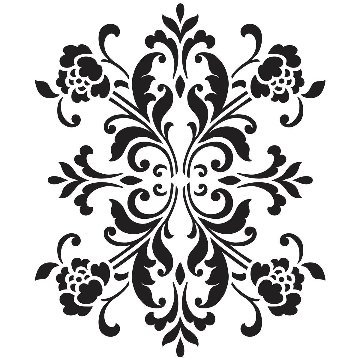 Waverly ® Inspirations Laser Stencils - Accent - Damask Floral, 6