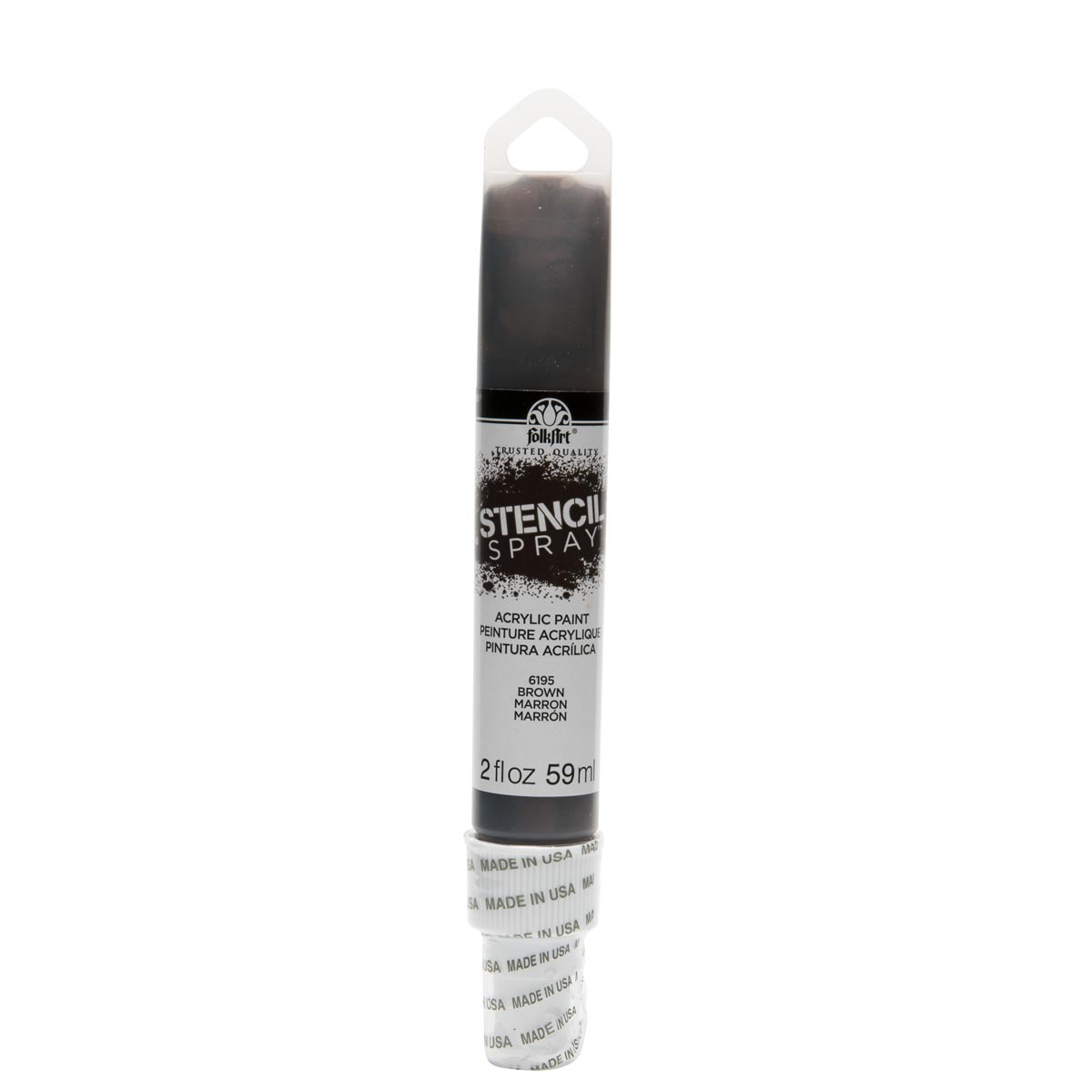 FolkArt ® Stencil Spray™ Acrylic Paint - Brown, 2 oz. - 6195