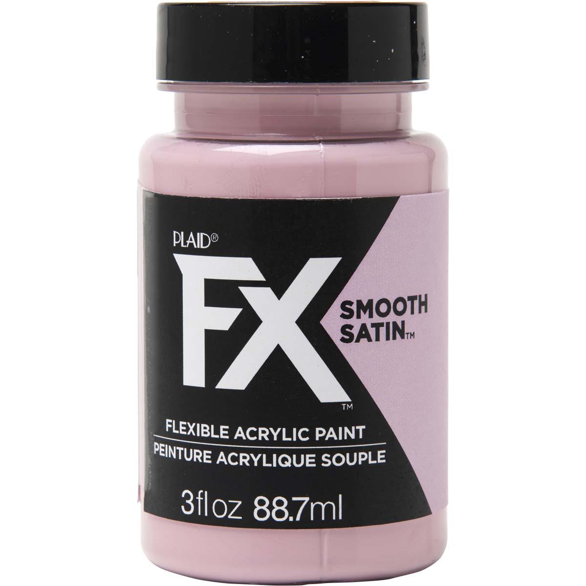 PlaidFX Smooth Satin Flexible Acrylic Paint - Tickled Pink, 3 oz. - 36838