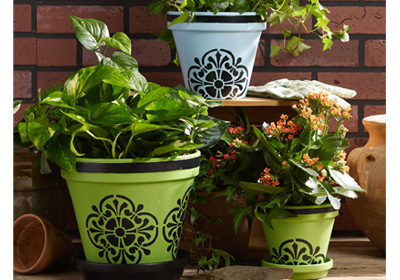 Tile Flower Pots