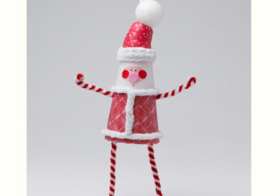 Whimsical Santa Ornament