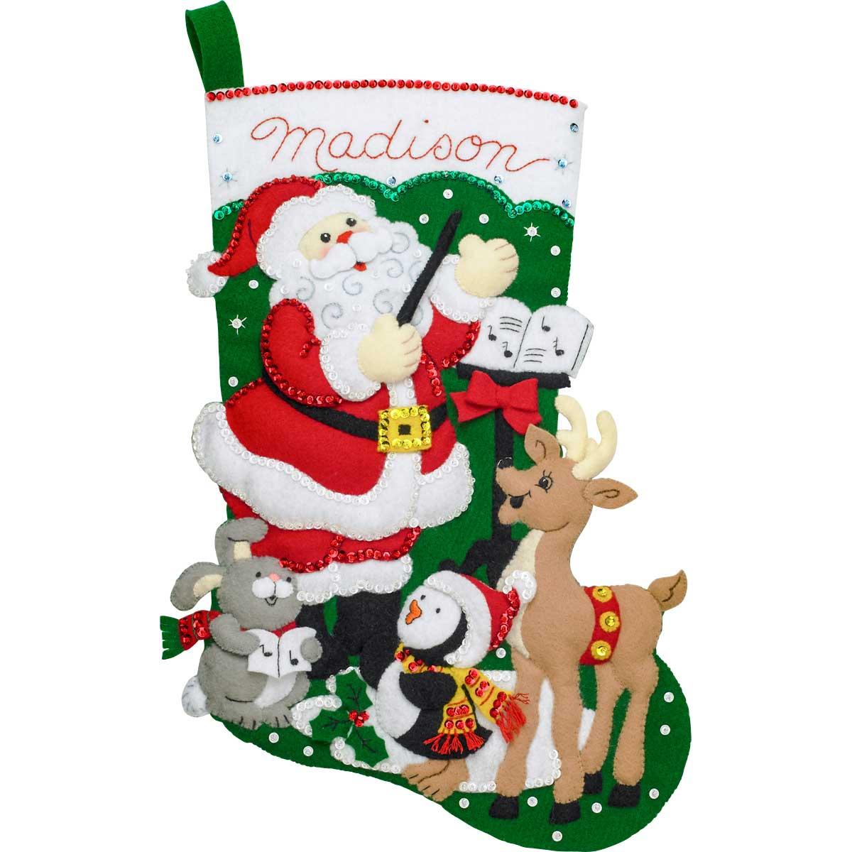 Bucilla ® Seasonal - Felt - Stocking Kits - Santa's Choir Practice - 86930E