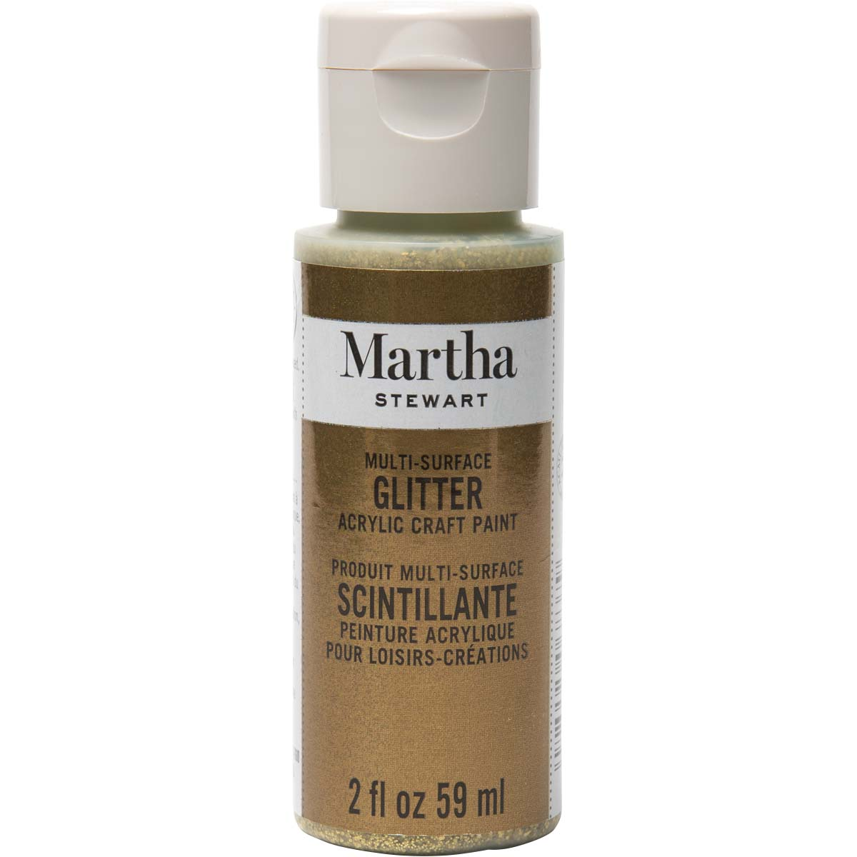 Martha Stewart ® Multi-Surface Glitter Acrylic Craft Paint - Florentine Gold, 2 oz. - 32176CA