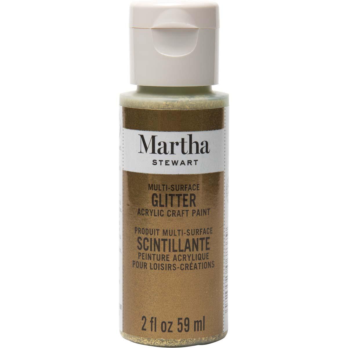 Martha Stewart® 2oz Multi-Surface Glitter Acrylic Craft Paint - Florentine Gold