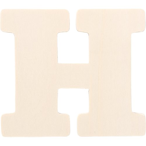 Plaid ® Painter's Palette™ Wood Letter - H. 4 inch - 23797