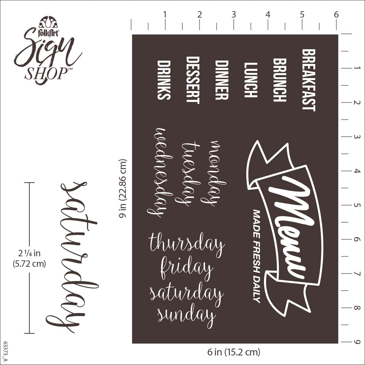 FolkArt ® Sign Shop™ Mesh Stencil - Good Food, 2 pc. - 63373