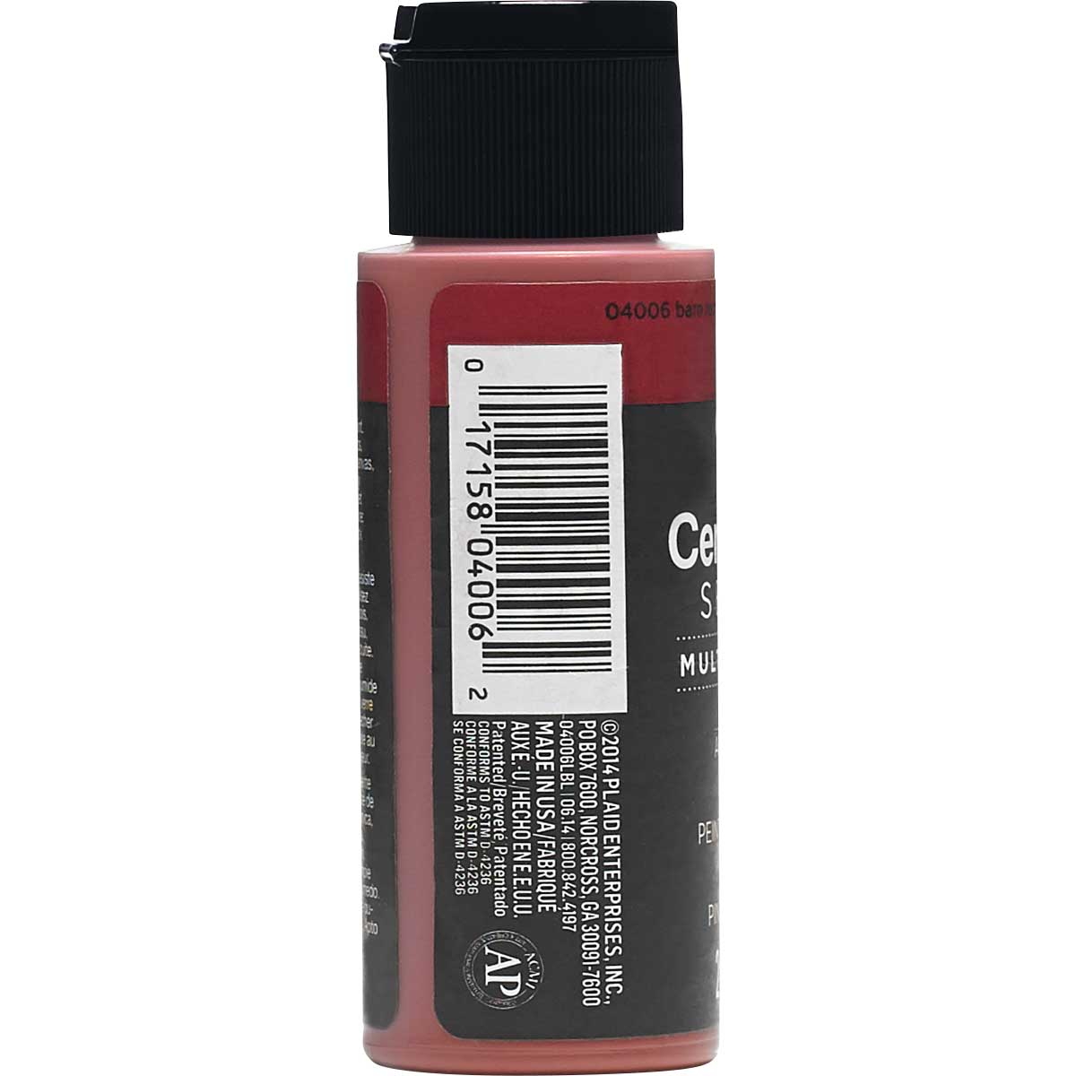 Delta Ceramcoat ® Select Multi-Surface Acrylic Paint - Satin - Barn Red, 2 oz. - 04006