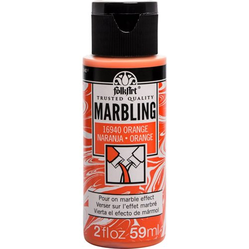 FolkArt ® Marbling Paint - Orange, 2 oz.
