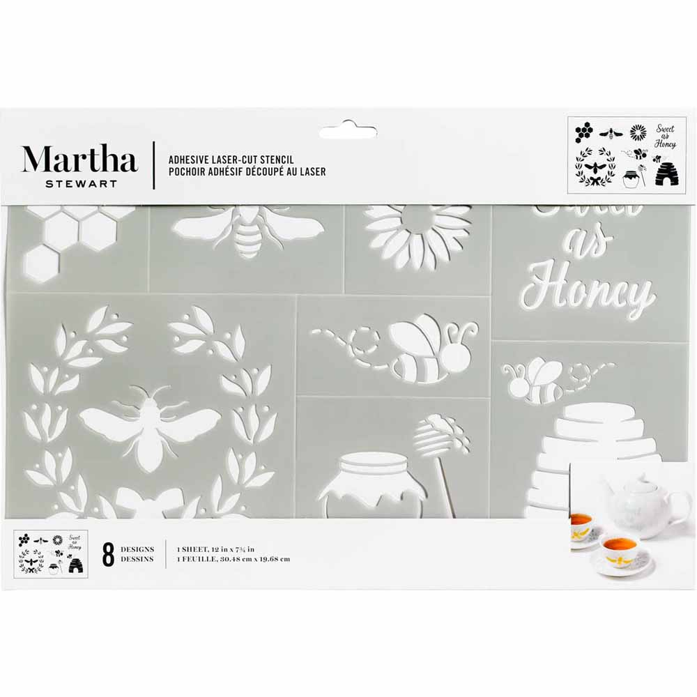 Martha Stewart ® Adhesive Stencil - Bees and Honey - 5981