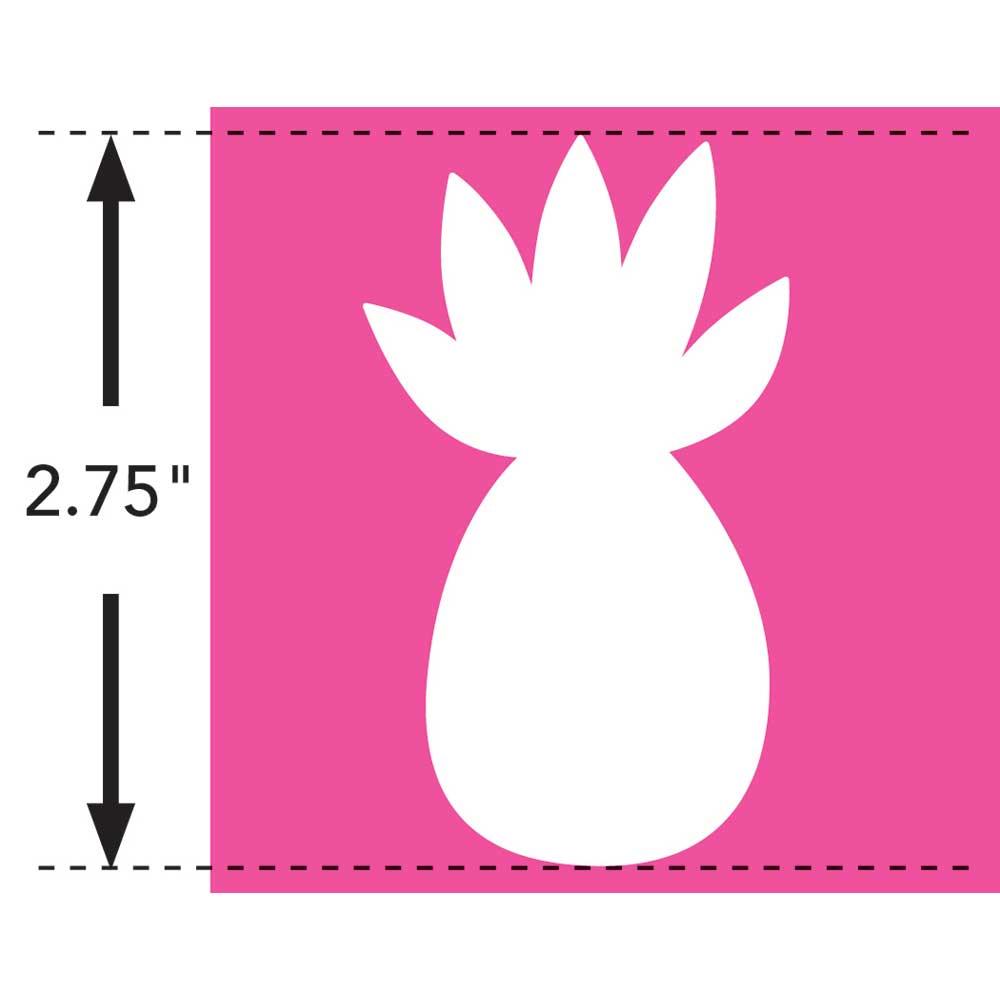 LaurDIY ® Iron-on Fabric Letters - Pineapple