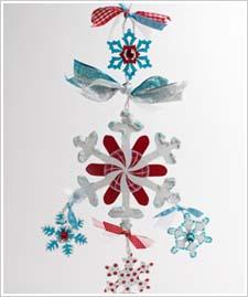 Snowflake Door Hanging or Mobile