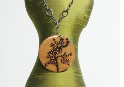 Wood Burned Pendant