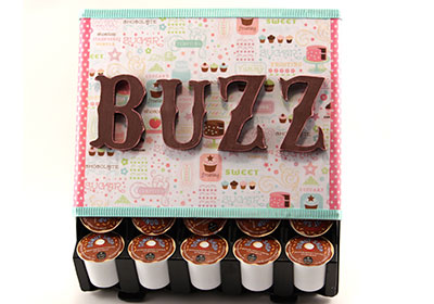 K-Cup Coffee Organizer with Furniture Mod Podge