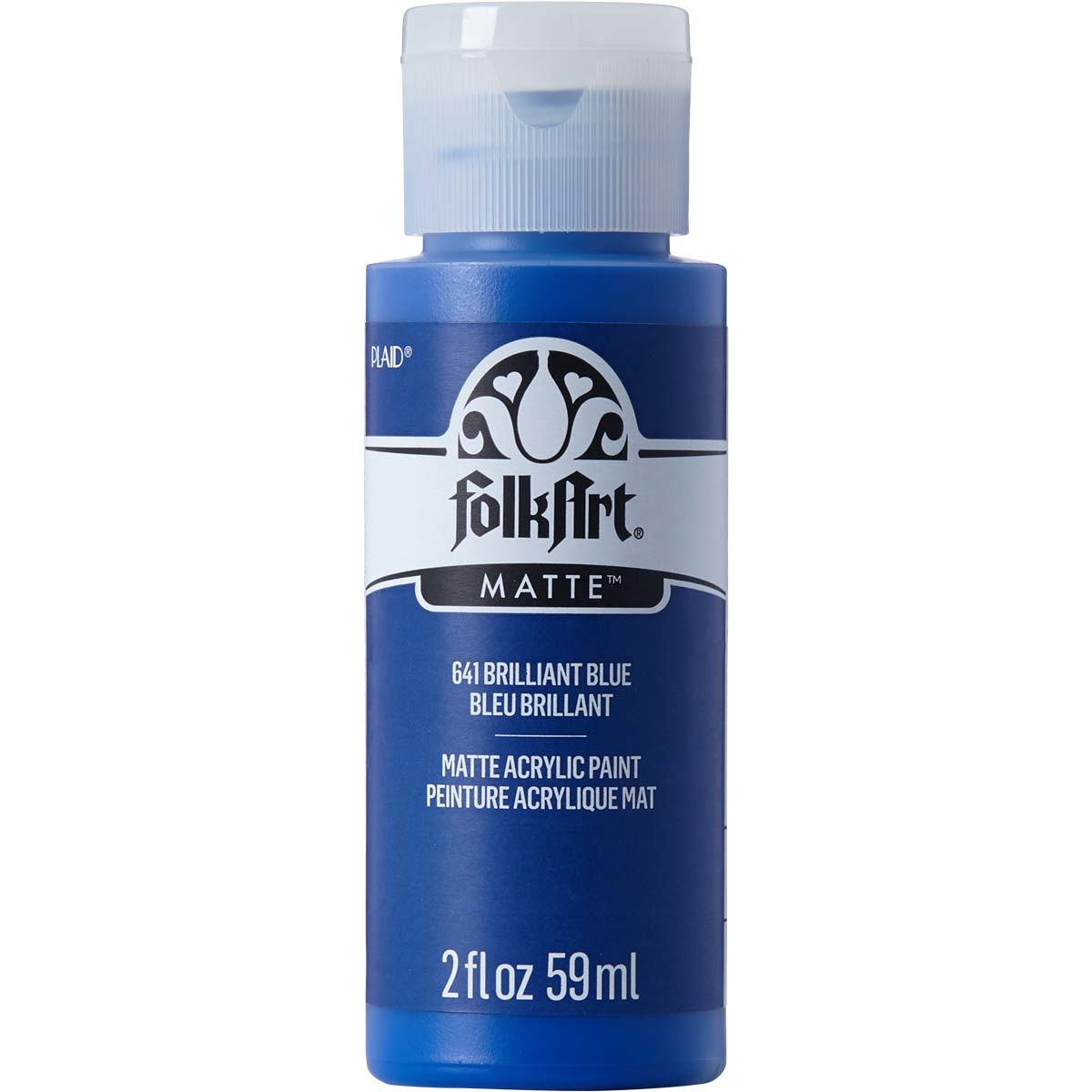 FolkArt ® Acrylic Colors - Brilliant Blue, 2 oz. - 641