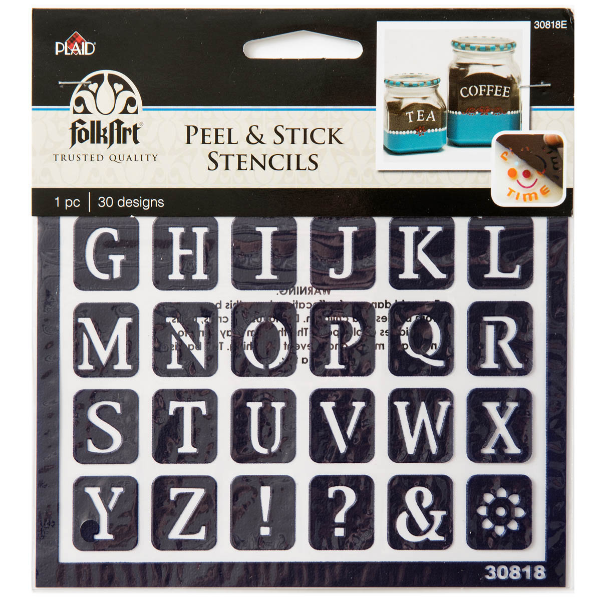 Plaid ® Peel & Stick Stencils - Old School