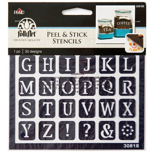 Plaid ® Peel & Stick Stencils - Old School