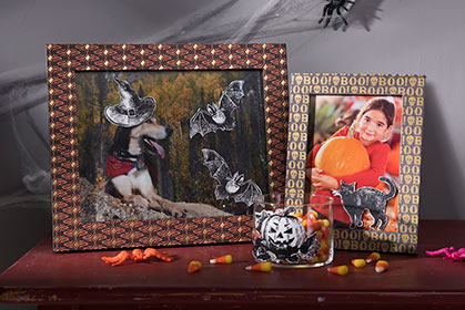 DIY Halloween Decals Made with Mod Podge