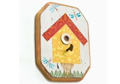 Birdhouse on a Pedestal Plaque