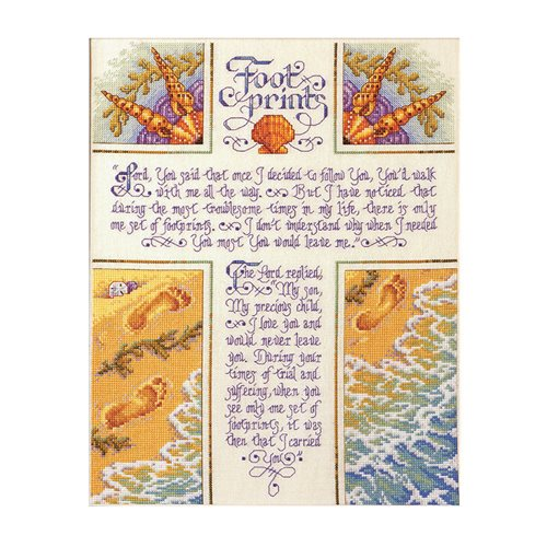 Bucilla ® Counted Cross Stitch - Picture Kits - Footprints
