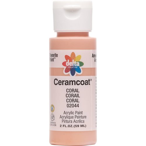 Delta Ceramcoat ® Acrylic Paint - Coral, 2 oz. - 020440202W