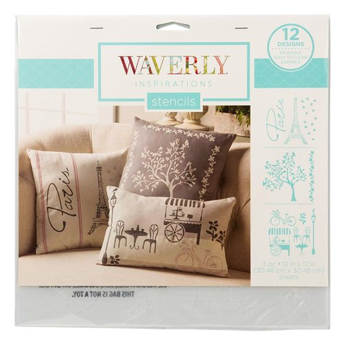 "Waverly ® Inspirations Laser Stencils - Décor - Paris, 12"" x 12"""