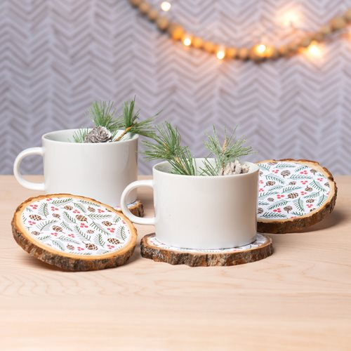 Mod Podge Patterned Coasters