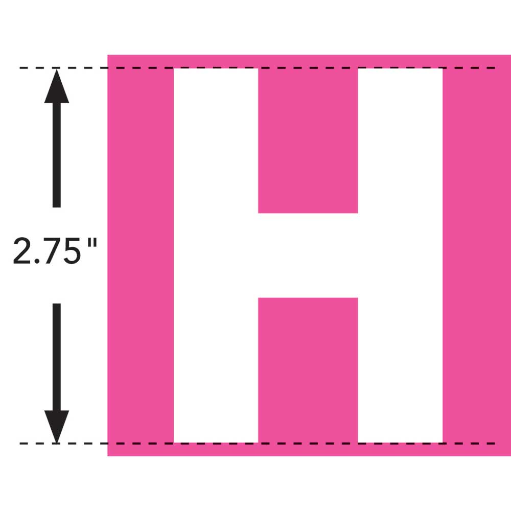 LaurDIY ® Iron-on Fabric Letters - H
