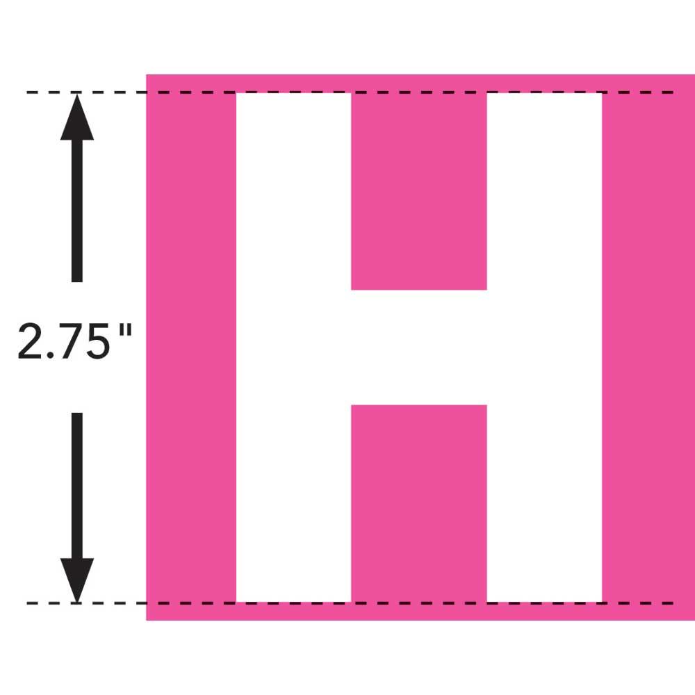 LaurDIY ® Iron-on Fabric Letters - H