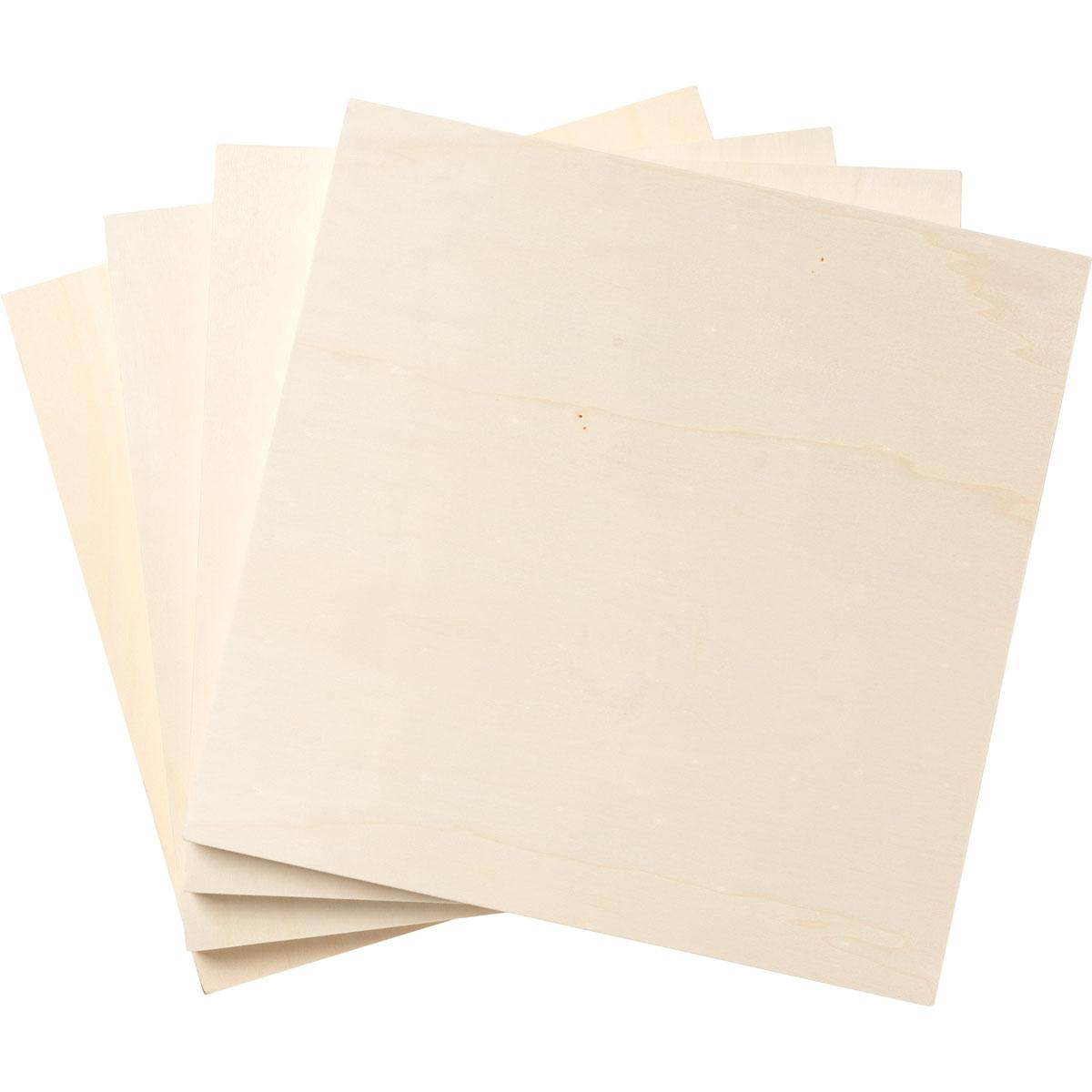 Plaid ® Wood Surfaces - Plywood Panel Bundle, 4 pieces, 10