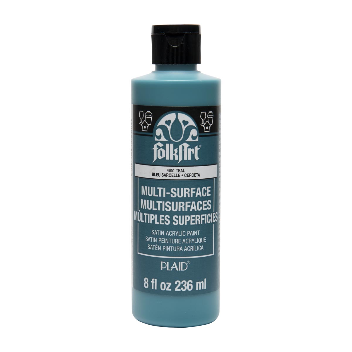 FolkArt ® Multi-Surface Satin Acrylic Paints - Teal, 8 oz. - 4651