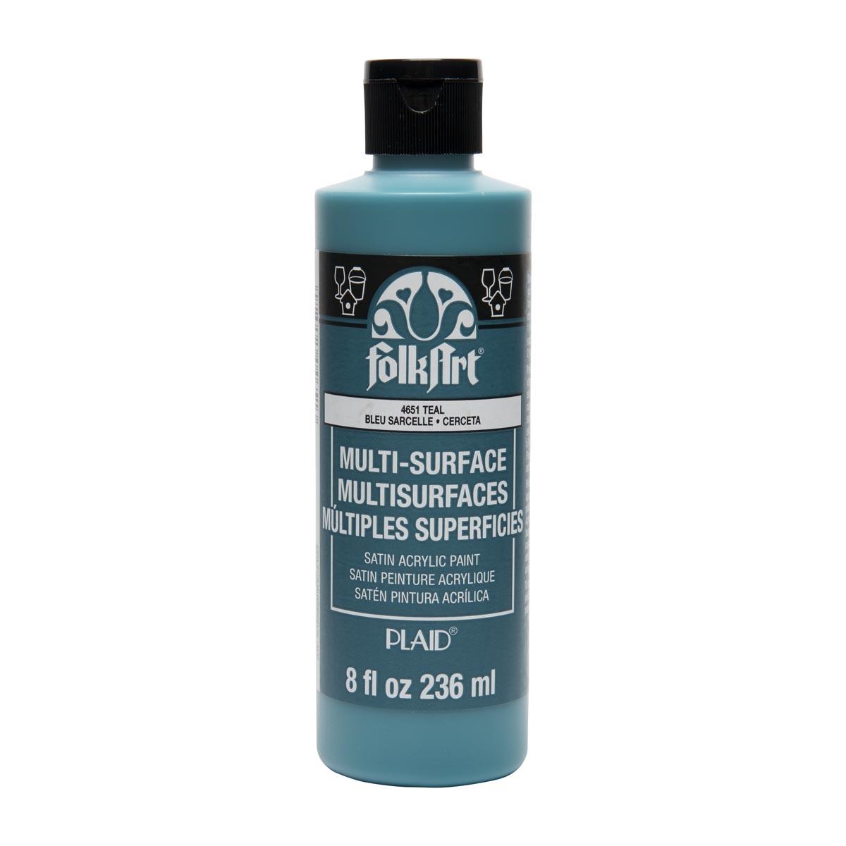 FolkArt ® Multi-Surface Satin Acrylic Paints - Teal, 8 oz.