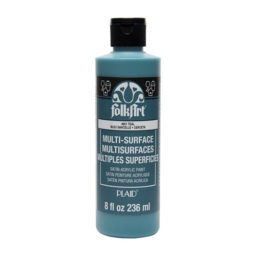 FolkArt ® Multi-Surface Satin Acrylic Paints - Teal, 8 oz.
